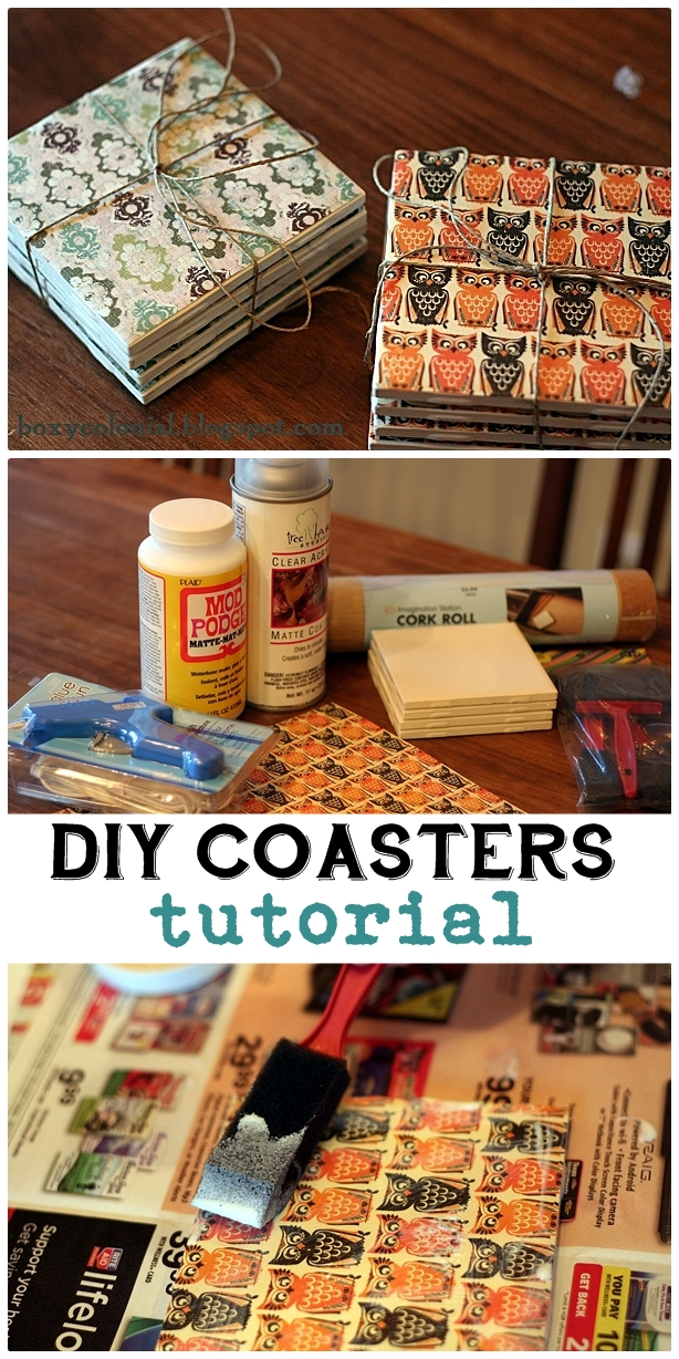 Diy coasters for christmas for Homemade coaster ideas