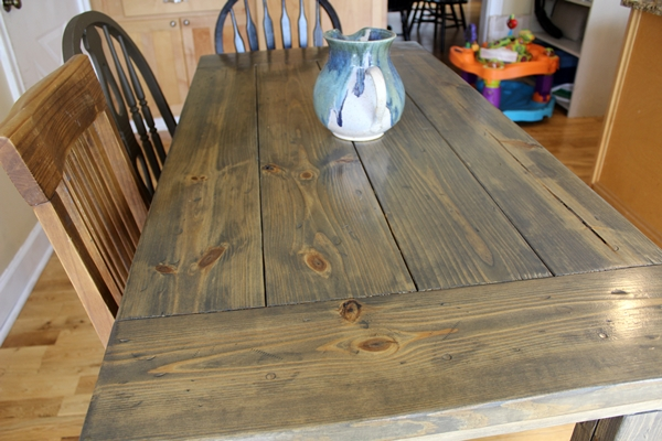 Farmhouse Table Easy One Month Long Project
