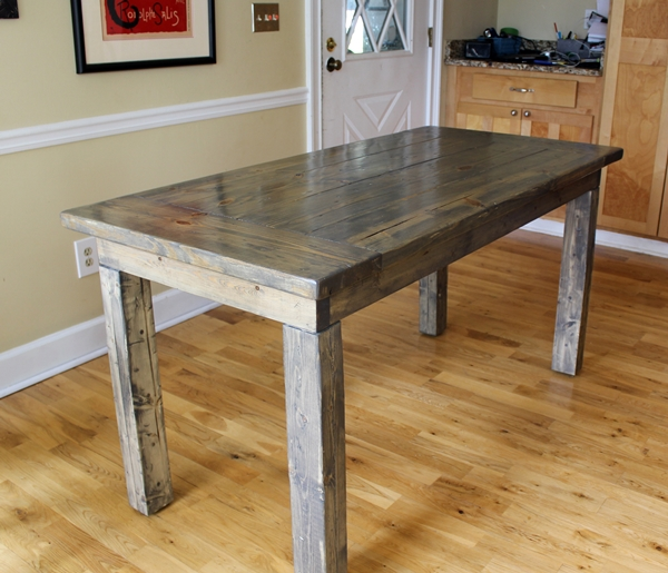 farmhouse table easy one month long project. Black Bedroom Furniture Sets. Home Design Ideas