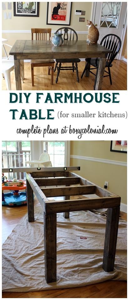 Farmhouse Kitchen Table Diy diy farmhouse table tutorial -