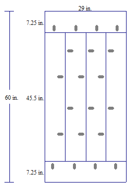 Thereu0027s A Diagram Of The Table Top From Beneath. Those Ovals Represent  Evenly Spaced Pocket Holes Attached With A Kreg Jig. As Shown, Each Of The  Four 45.5u2033 ...