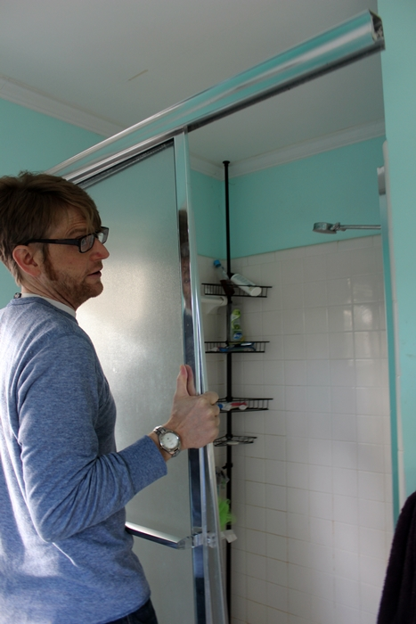 Removing The Shower Door Breaking Ground In The Master