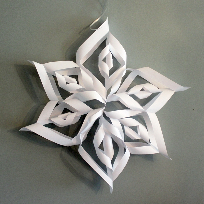 how to make giant paper snowflakes step by step photo