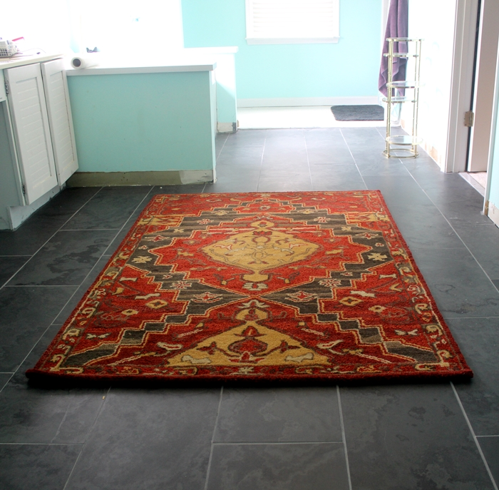 Home Decorators' Tollan Rug: A Tiny Master Bath Update -