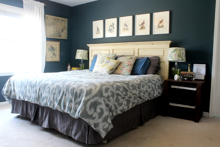 bird and octopus and themed master bedroom tour