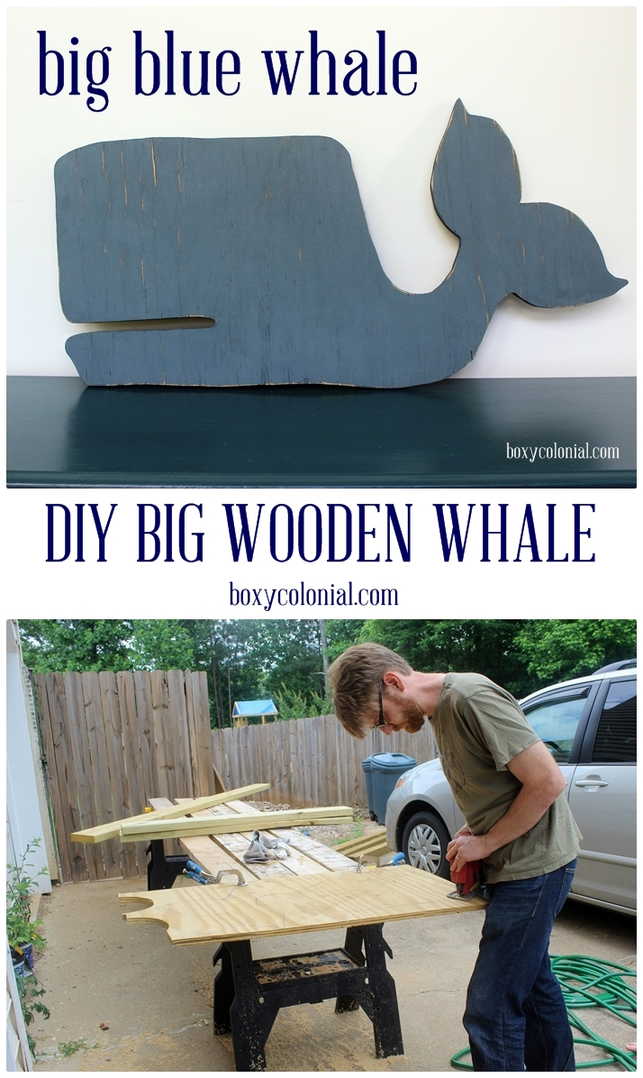big wooden whale