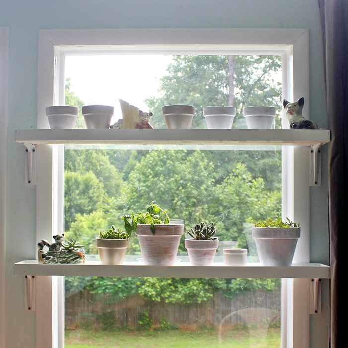 Kitchen Window Plant Shelf: DIY Window Plant Shelf