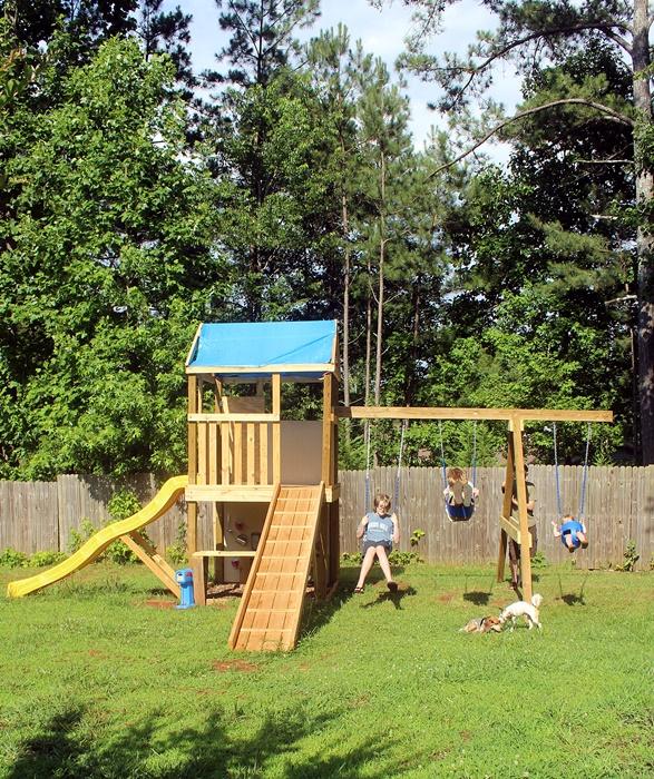 Diy Swing Set Part 3 The Swing Set Has Swings