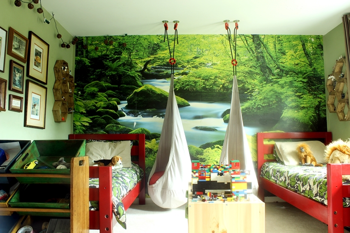 Forest-themed Kid Room