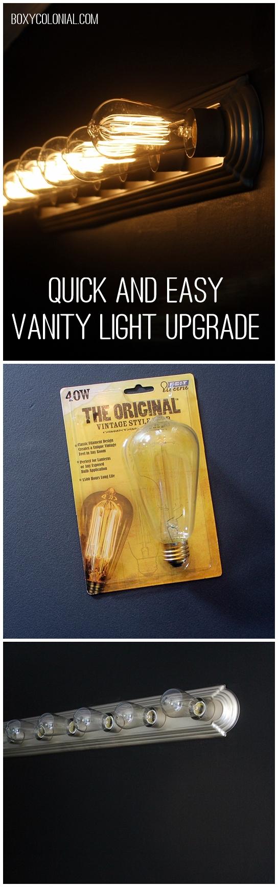 Vanity Light Upgrade : Quick and Easy Vanity Light Update (Plus Black Paint Reveal)