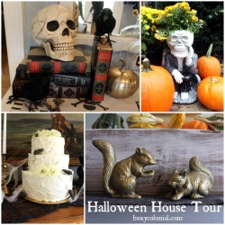 Halloween House Tour at BoxyColonial.com