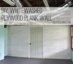 whitewashed plank wall