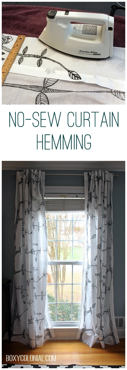 Hemming curtains without sewing and other small things How to make a valance without sewing