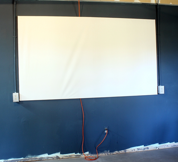 projection screen diy diy projector screen for less than 20