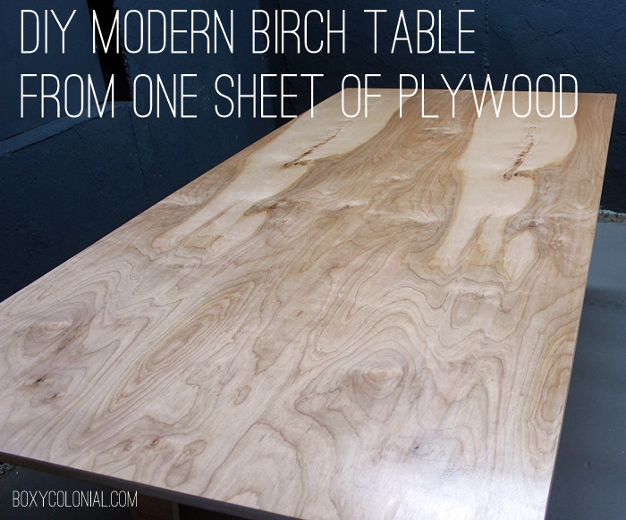 DIY Modern Birch Table from One Sheet of Plywood : plywoodtable03swords from boxycolonial.com size 700 x 582 jpeg 339kB
