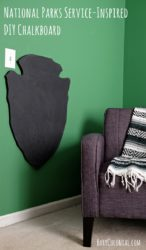 How to make a chalkboard for a kid's room: inspired by the National Parks Service's arrowhead logo