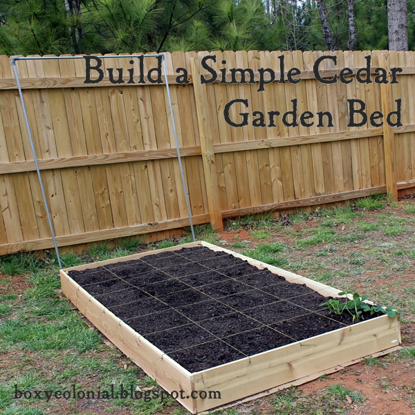 A Raised Garden Bed Because I Guess its Really Not Going to Snow