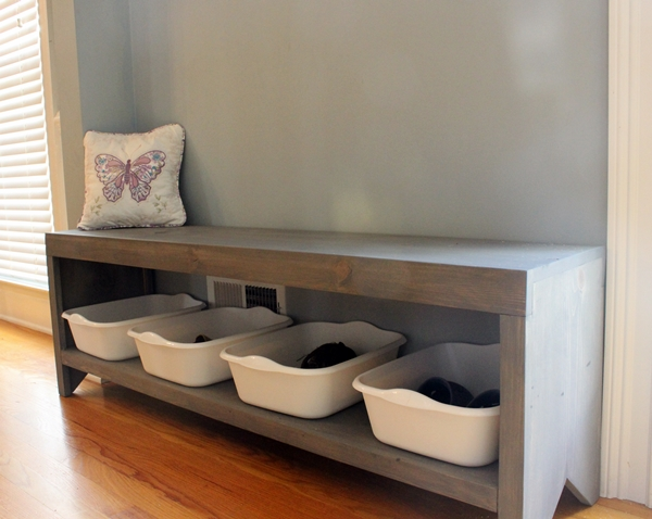 Dave Tells Us How to Build a Bench with Shoe Storage — 24 Comments