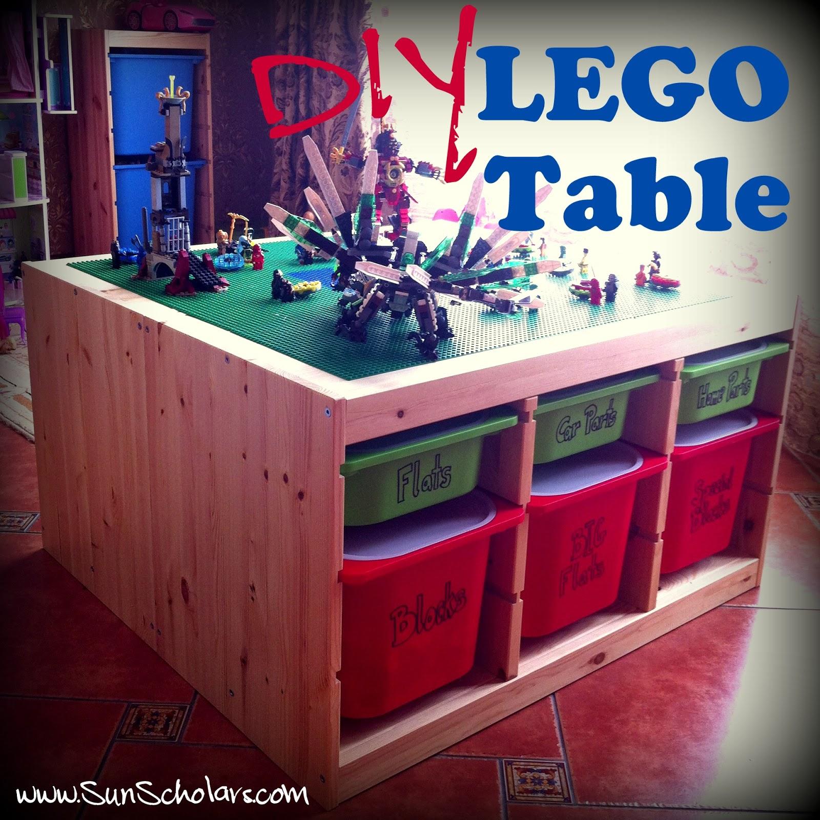 Diy ikea lego table aka the super secret project the day - Ikea trofast lego table ...