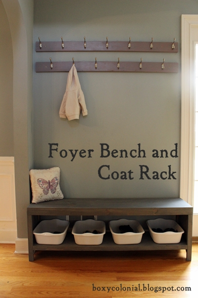 coat rack bench plans