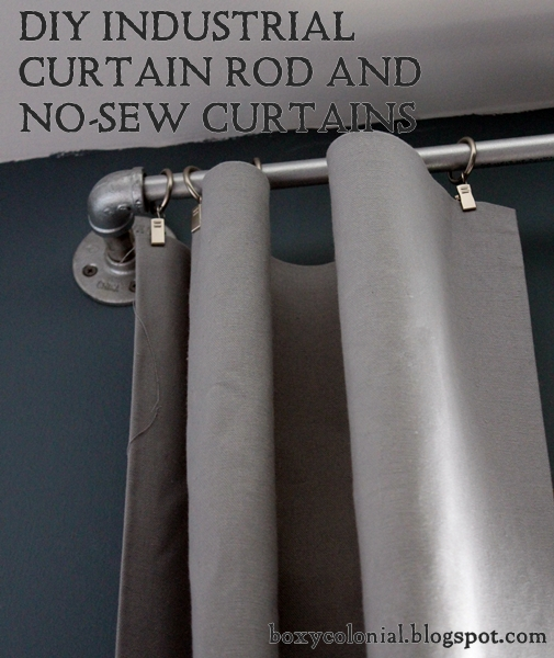 DIY Industrial Curtain Rods And No Sew Curtains: An Ariu0027s Room Update