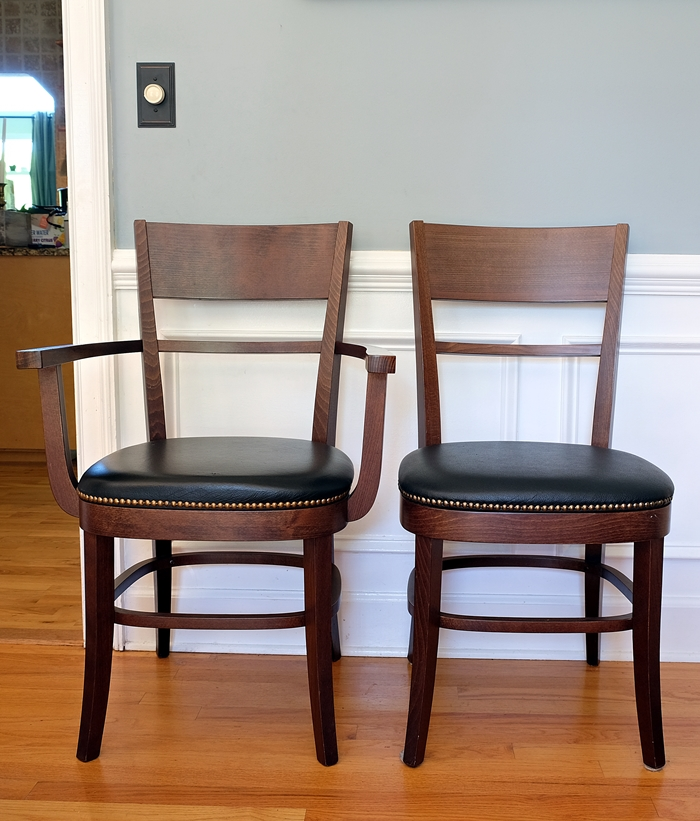 impulsive dining room changes pottery barn chairs. Black Bedroom Furniture Sets. Home Design Ideas